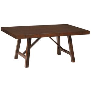 Standard Furniture Omaha Brown Trestle Table