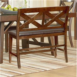 Standard Furniture Omaha Brown Dining Bench