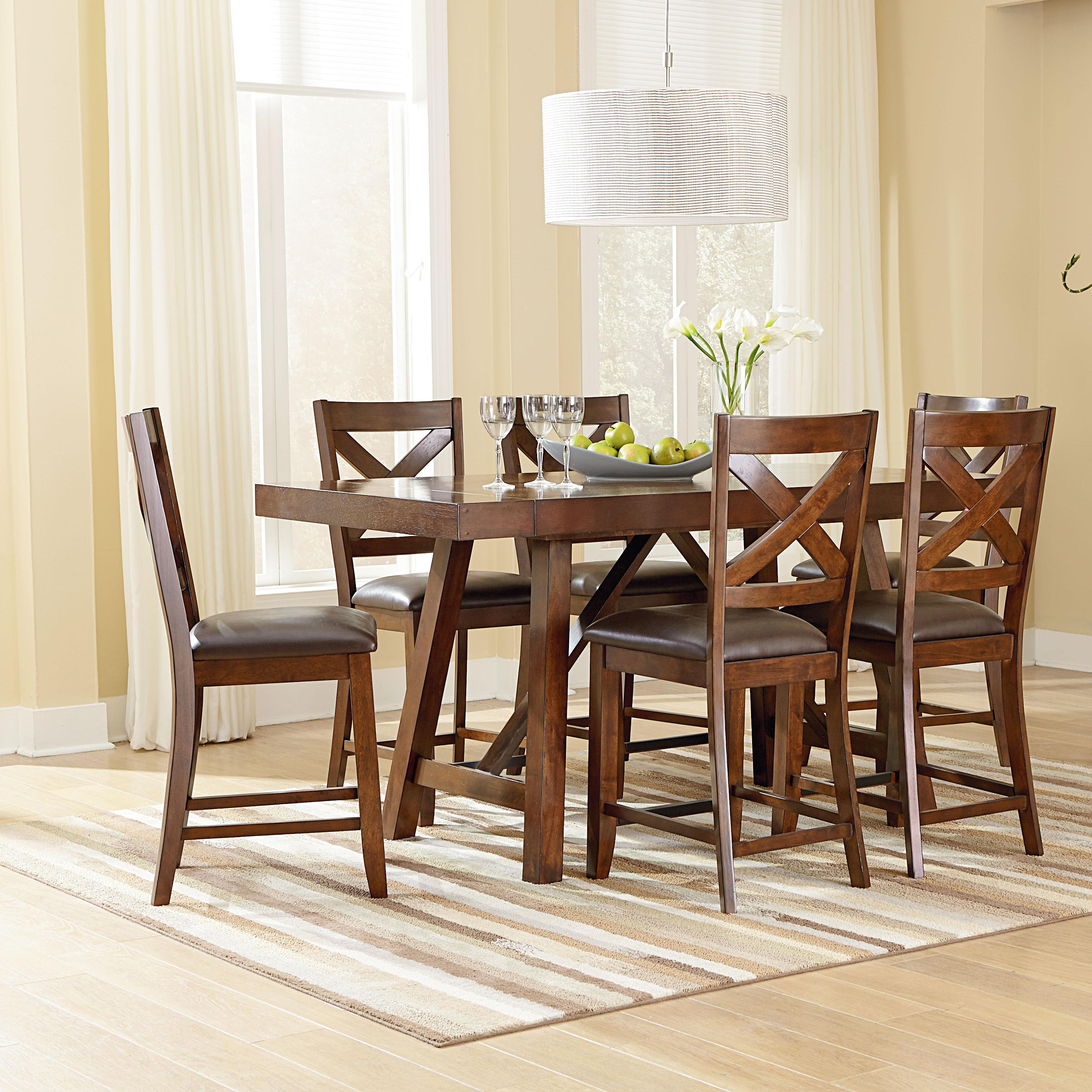 Outdoor Patio Furniture Omaha Ne: Standard Furniture Omaha Brown Counter Height 7 Piece