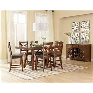 Standard Furniture Omaha Brown Counter Height Table Set