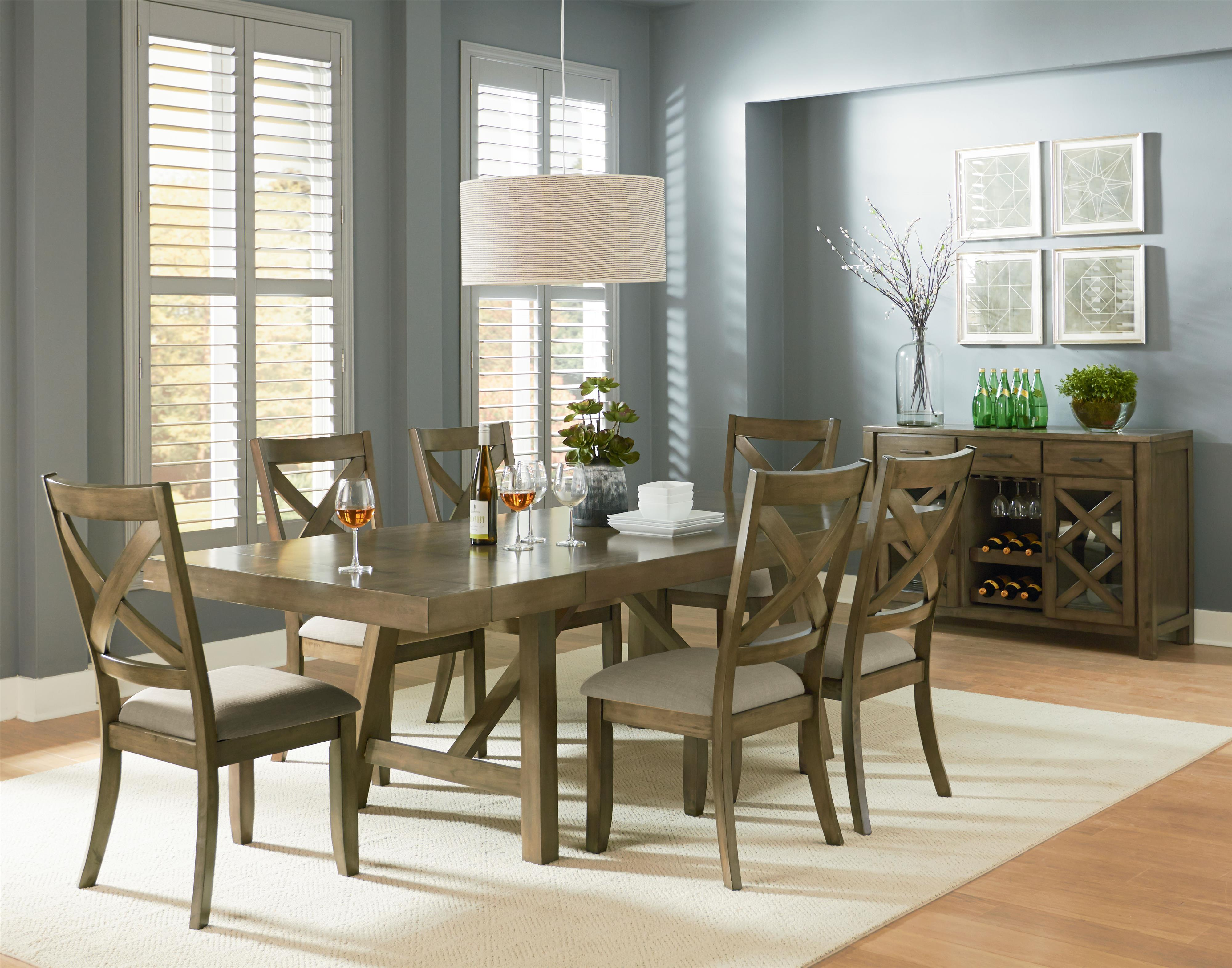 Standard Furniture Omaha Grey Casual Dining Room Group - Item Number: 16680 Dining Room Group 2