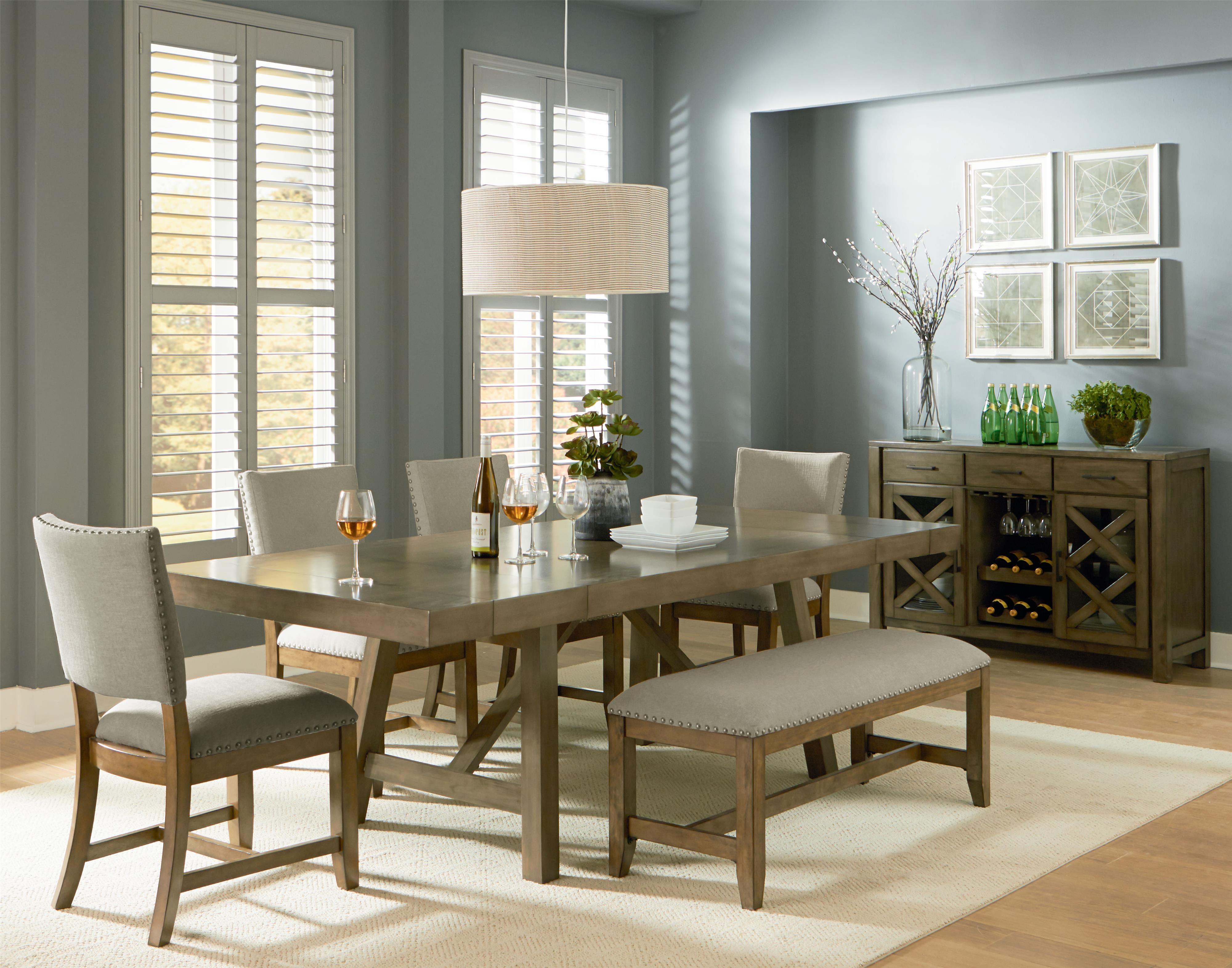 Standard Furniture Omaha Grey Casual Dining Room Group - Item Number: 16680 Dining Room Group 4