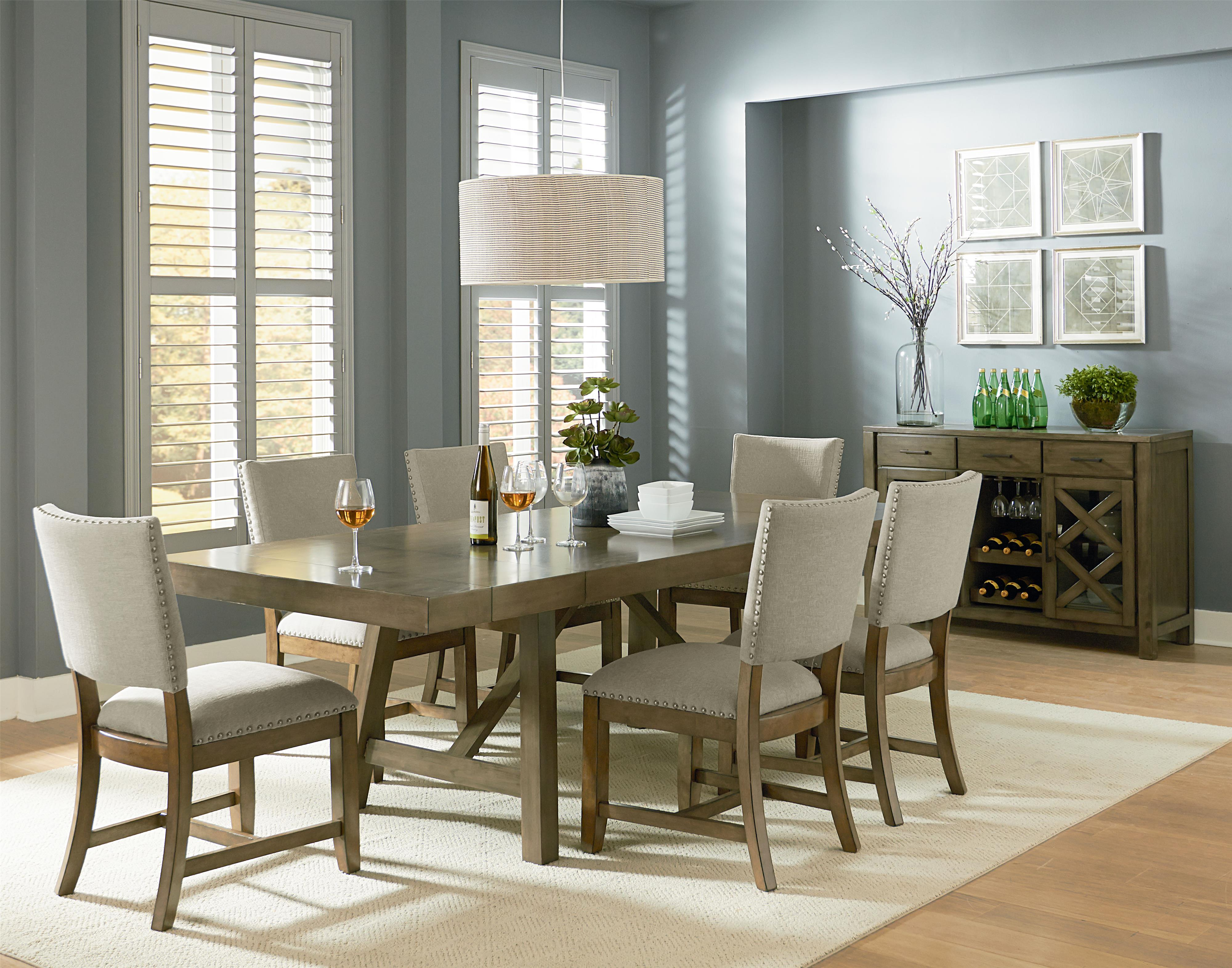 Standard Furniture Omaha Grey Casual Dining Room Group - Item Number: 16680 Dining Room Group 5