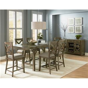 Standard Furniture Omaha Grey 6 Piece Counter Height