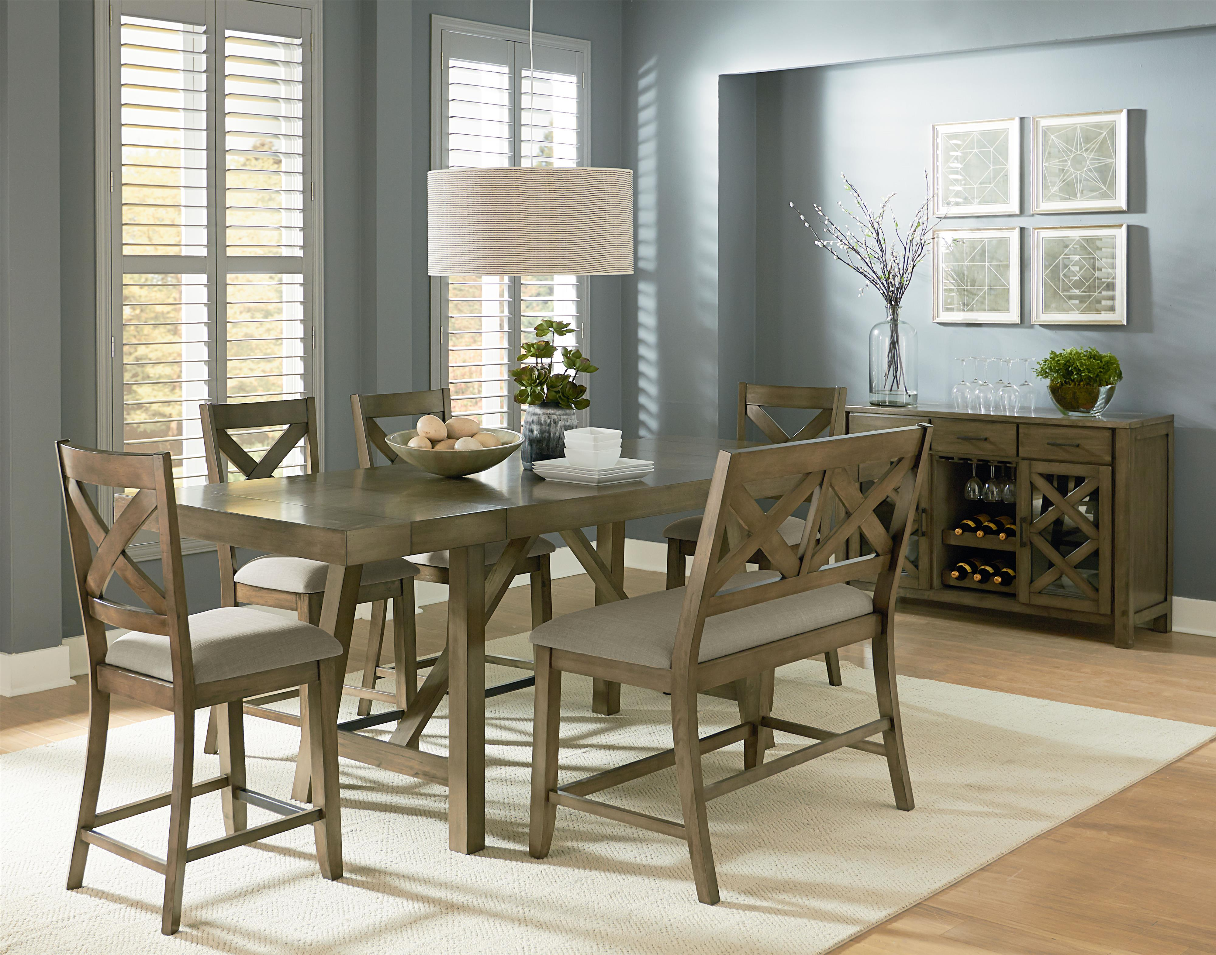 Standard Furniture Omaha Grey Casual Dining Room Group - Item Number: 16680 Dining Room Group 9