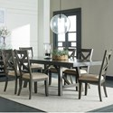 Standard Furniture Omaha Grey 7 Piece Trestle Table Dining Set