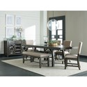 Standard Furniture Omaha Grey Upholstered Side Chair with Wooden Base
