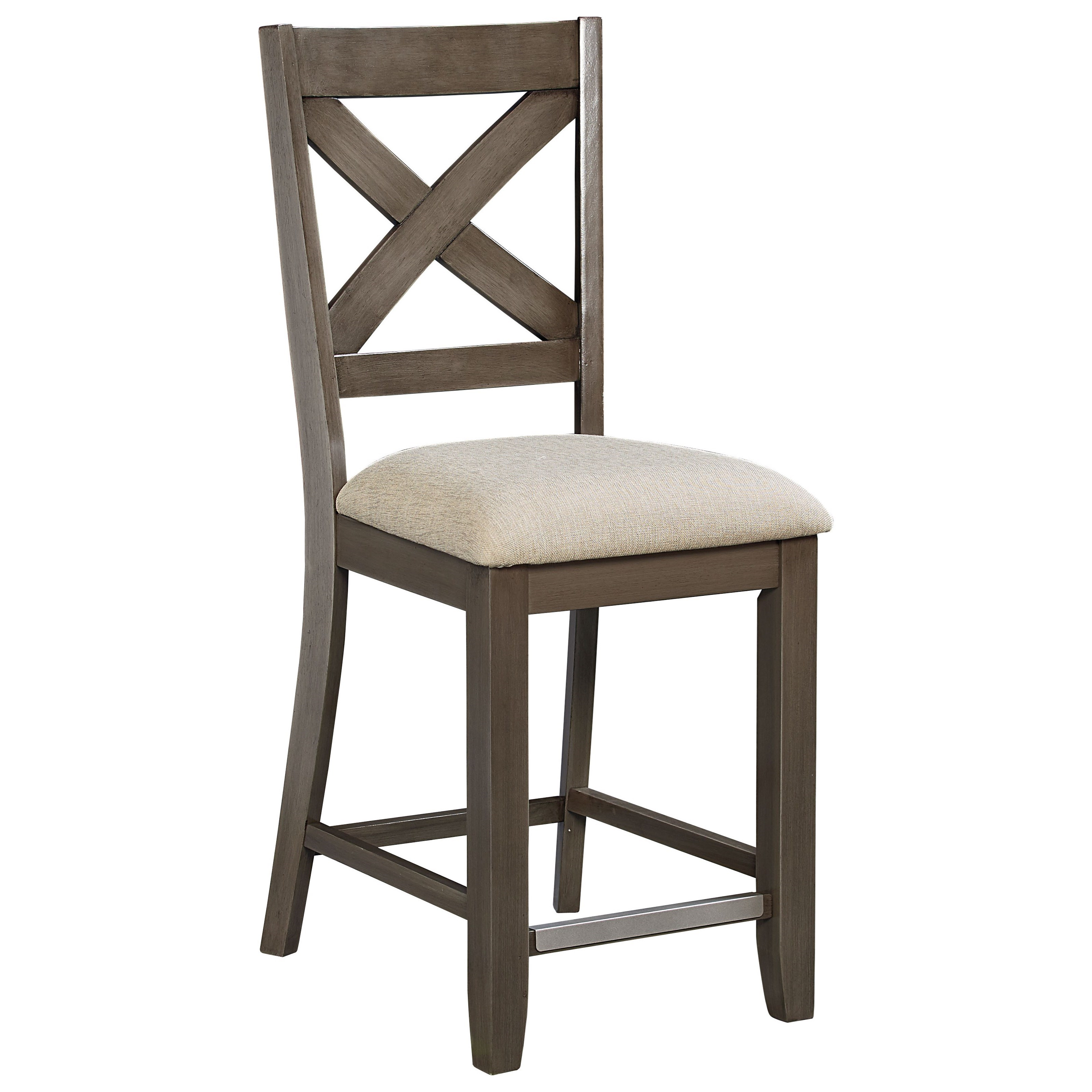 Standard Furniture Omaha Grey Counter Height Bar Stool
