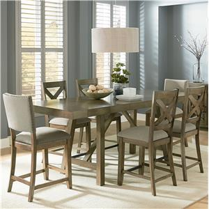 Trestle Table Dining Set