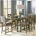 Standard Furniture Omaha Grey Trestle Table Dining Set - Item Number: 16696+2x97+4x94