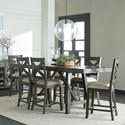 Standard Furniture Omaha Grey Trestle Table Dining Set - Item Number: 16696+6x94