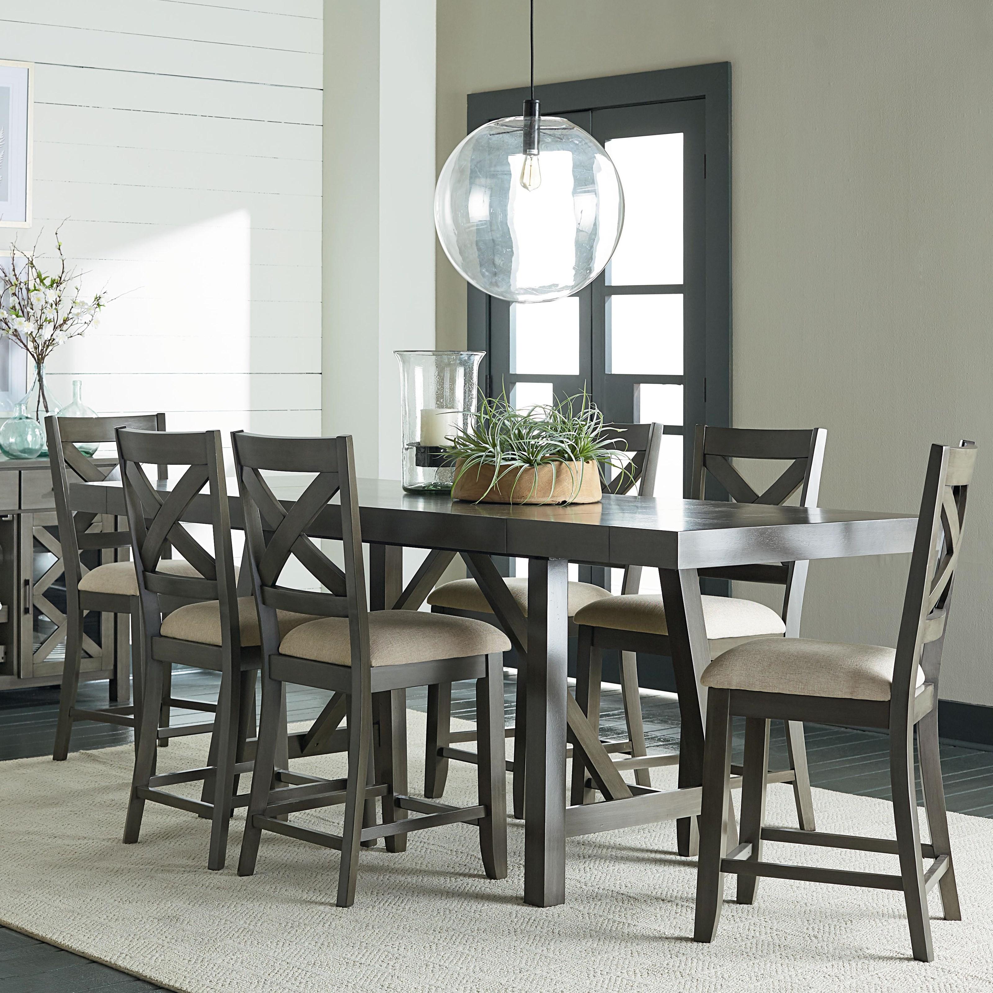 Standard Furniture Brooklyn 5 Piece Counter Height Dining: Standard Furniture Omaha Grey Counter Height 5-Piece