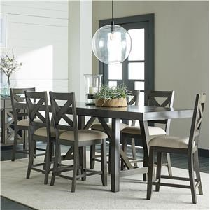 Standard Furniture Omaha Grey Counter Height 5-Piece Dining Room Table Set