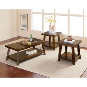 Standard Furniture Omaha Brown Occasional Table Group