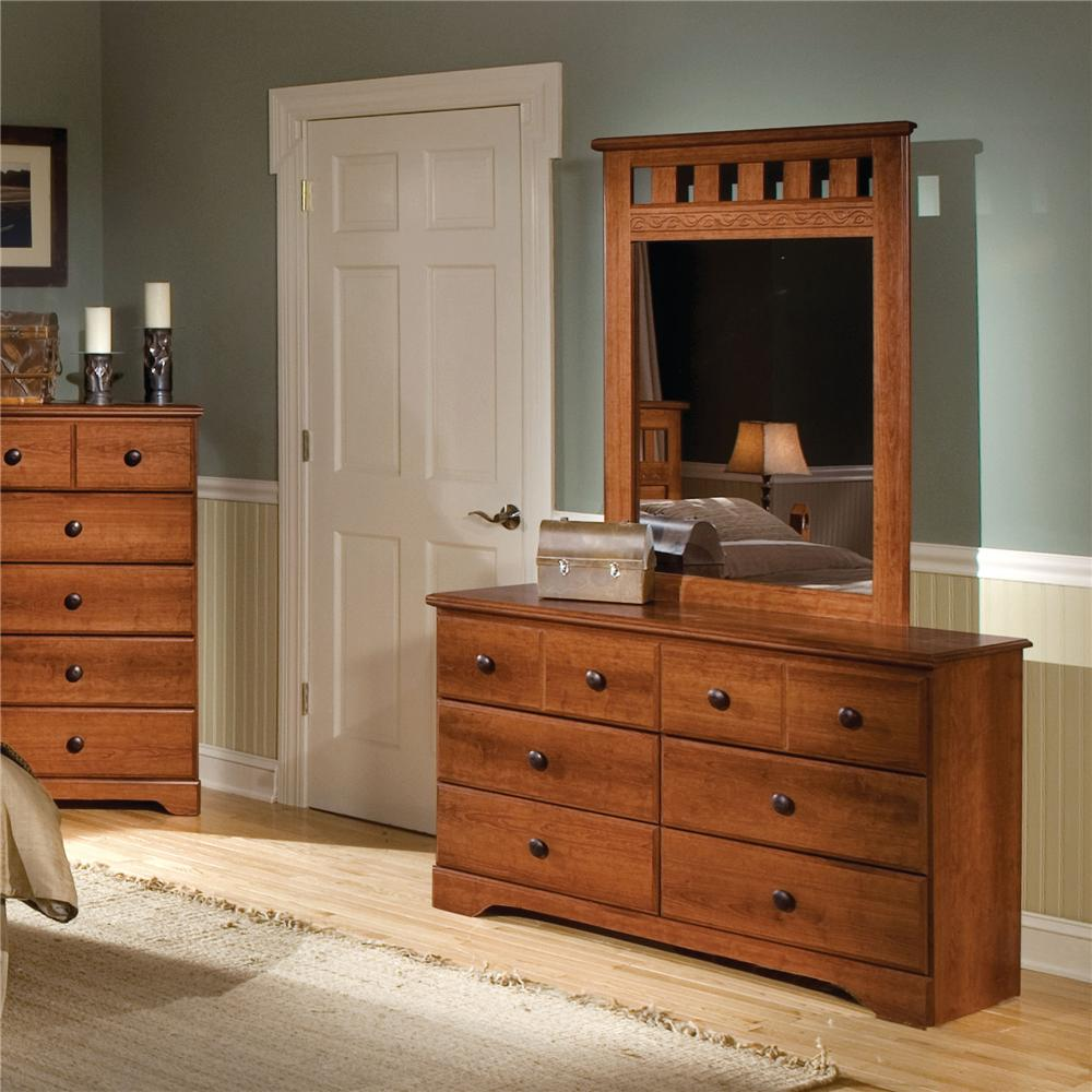 Standard Furniture Orchard Park Dresser & Mirror Combo - Item Number: 58709+18