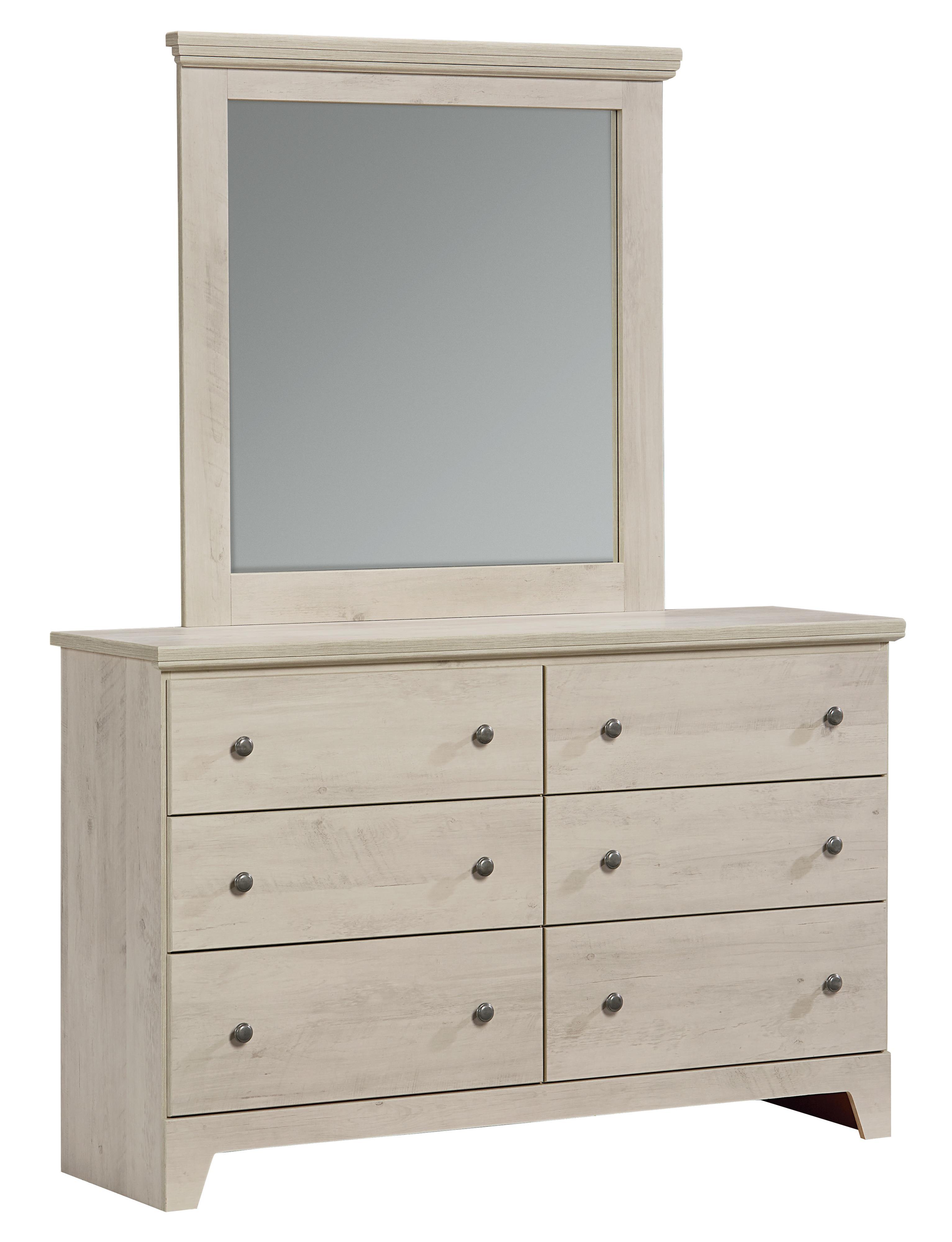 Standard Furniture Outland Lite Dresser and Mirror Set - Item Number: 62949+62958