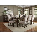 Standard Furniture Paisley Court Table and Chair Set - Item Number: 12821+8x12824