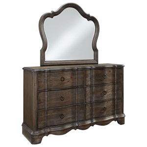Standard Furniture Parliament Dresser and Mirror Set