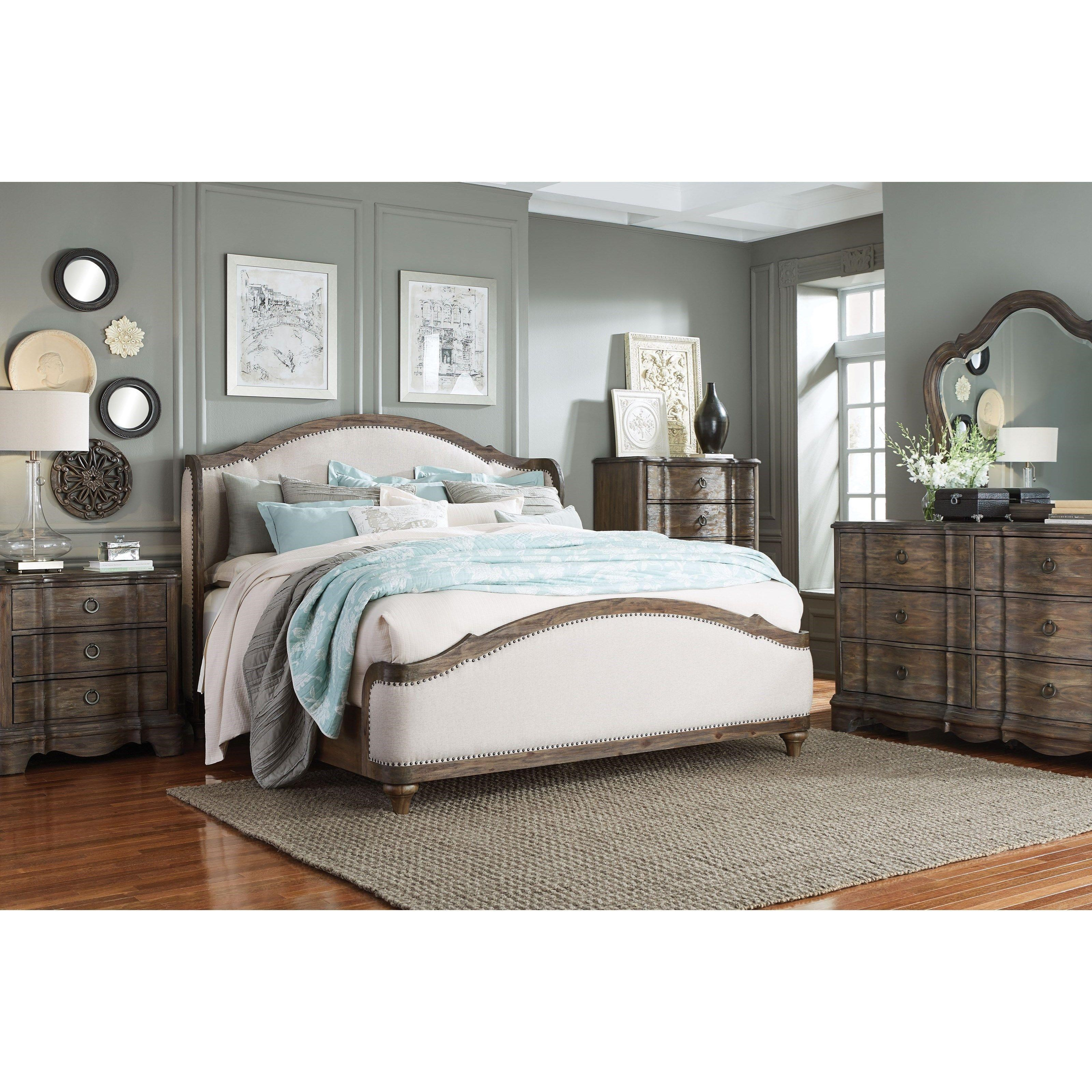 Standard Furniture Parliament King Bed, Dresser, Mirror And Nightstand