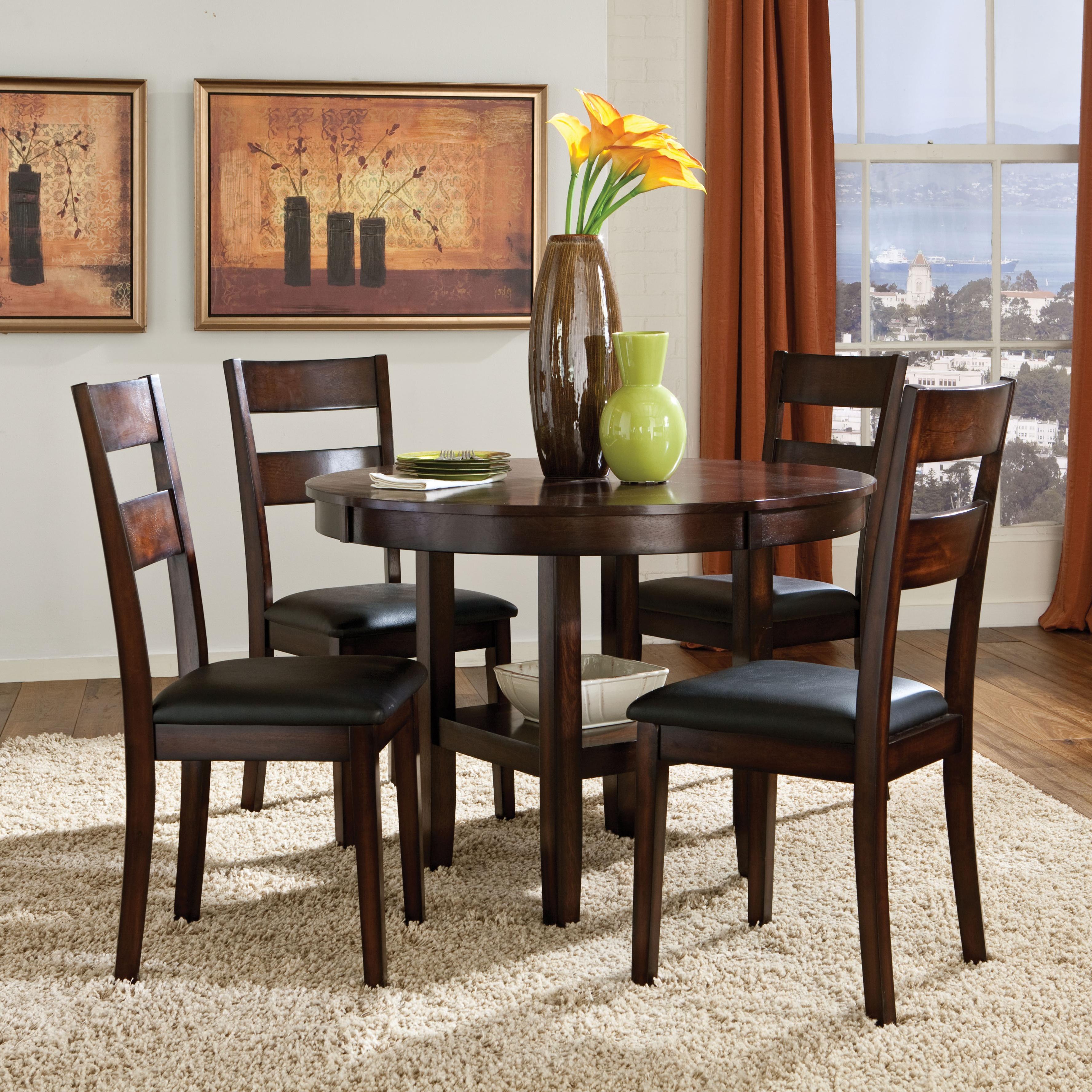 Dining Sets Round Table: Standard Furniture Pendwood 10022 5 Piece Round Table