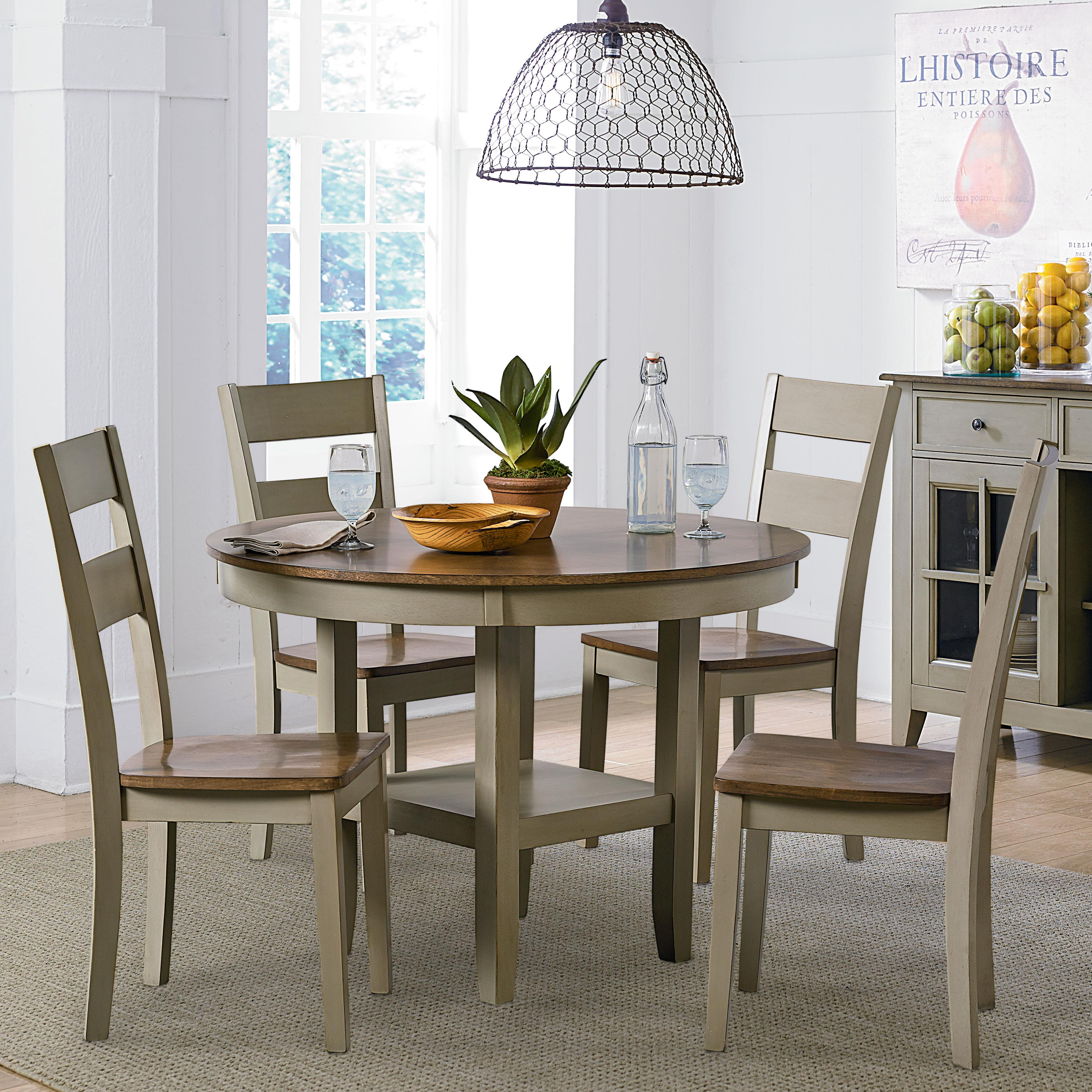 standard furniture pendwood sage casual kitchen table and chair