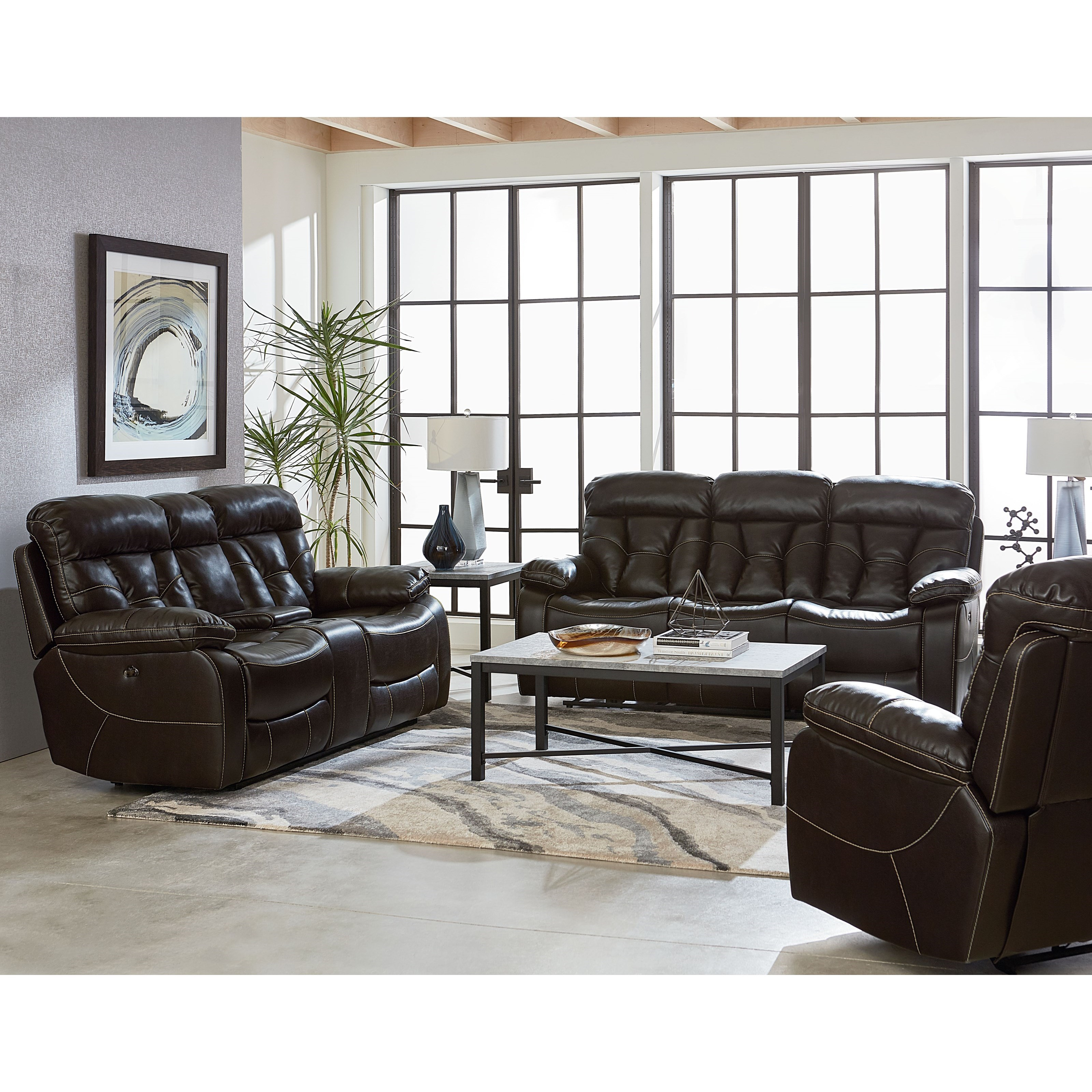 Standard Furniture Peoria Reclining Sofa With Pillow Arms