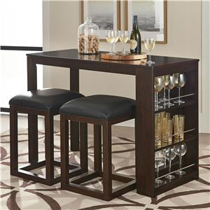 Standard Furniture PORTER 3 Piece Pub Table and Stool Set