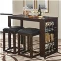 Standard Furniture PORTER 3 Piece Pub Table and Stool Set - Item Number: 15156+2x54
