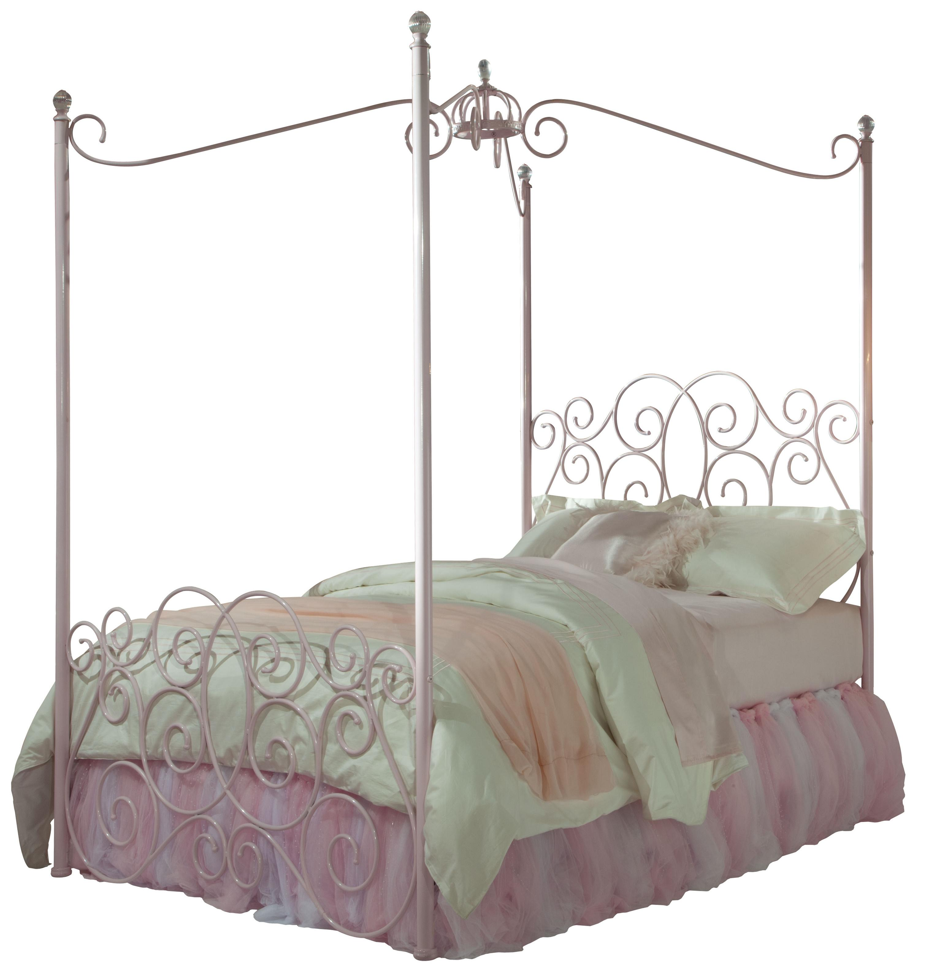 Standard Furniture Princess Canopy Beds Twin Metal Bed Item Number 90001 2