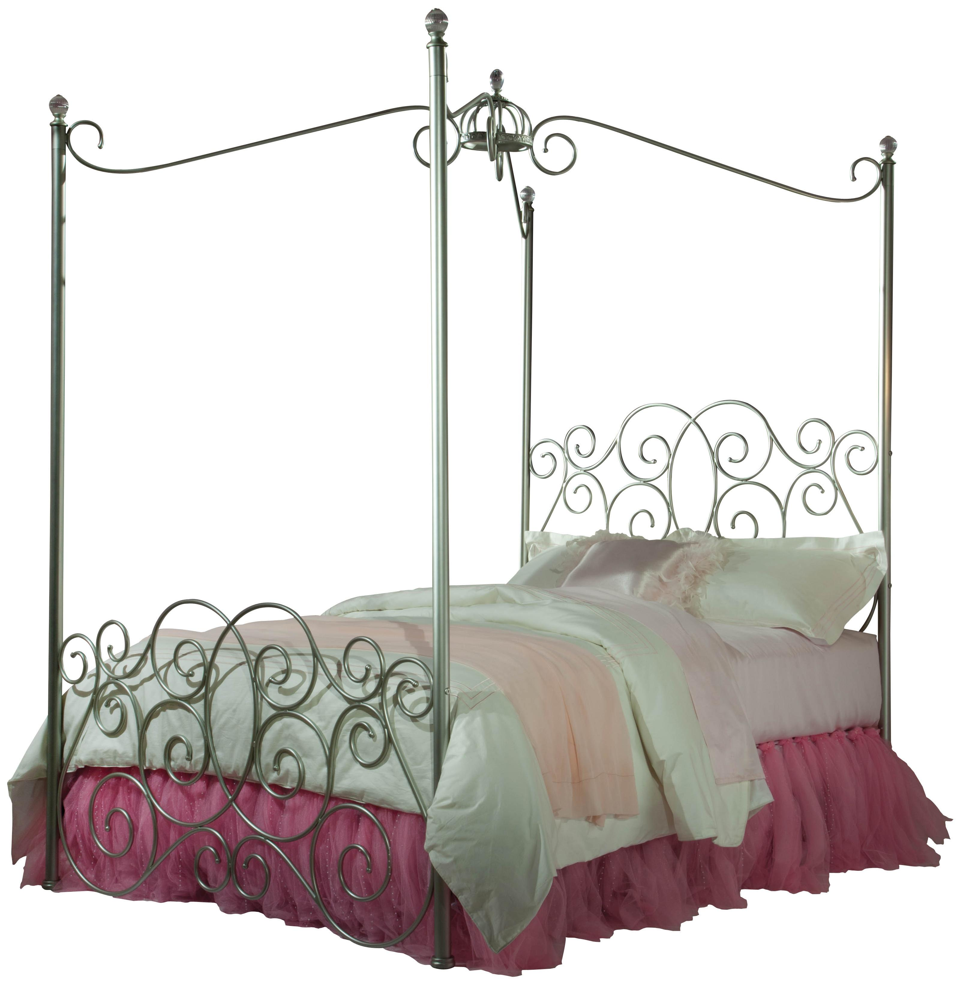 - Twin Size Canopy Bed Frame Glitz Amp Glam Canopy Bed With Bedding