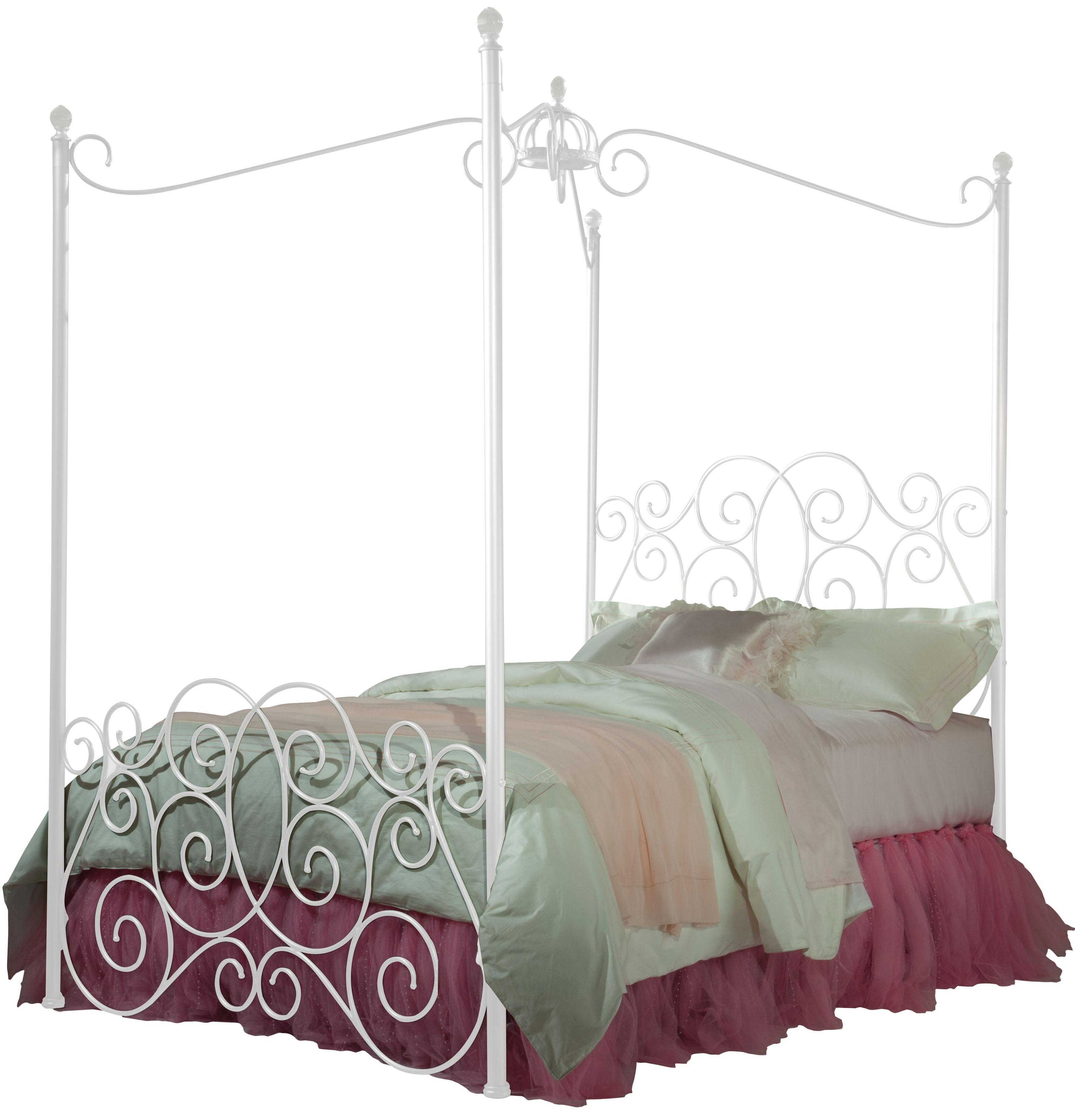 Standard Furniture Princess Canopy Beds Twin Metal Canopy Bed - Item Number: 90031+32+35