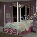 Standard Furniture Princess Canopy Beds Twin Metal Canopy Bed with Clear Post Finials - Shown in Room Setting