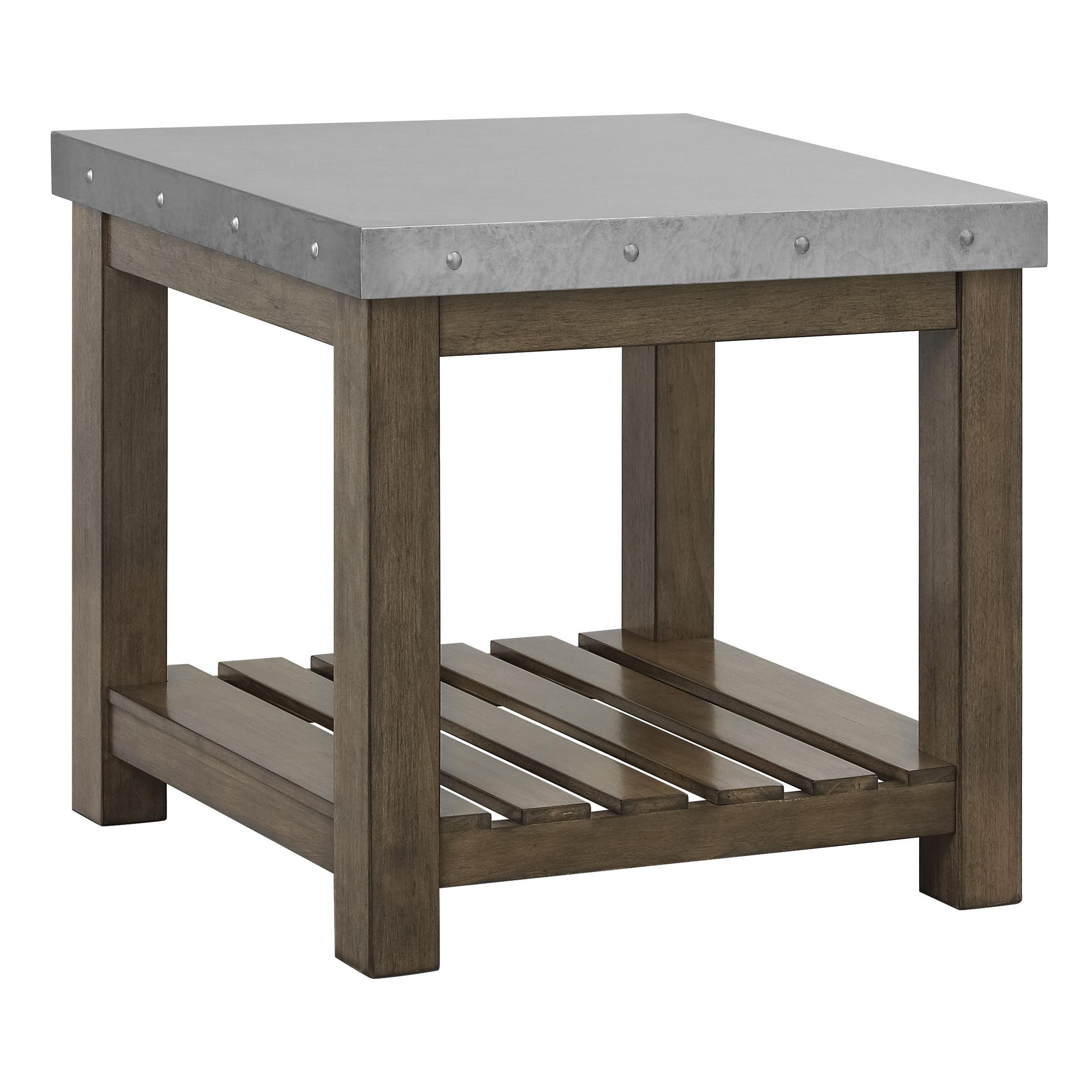 Riverton Accent Tables Metal Top End Table By Standard Furniture Wolf Furniture