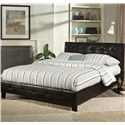 Standard Furniture Rochester Queen Pleated Brown Upholstered Platform Bed - Bed Shown May Not Represent Size Indicated