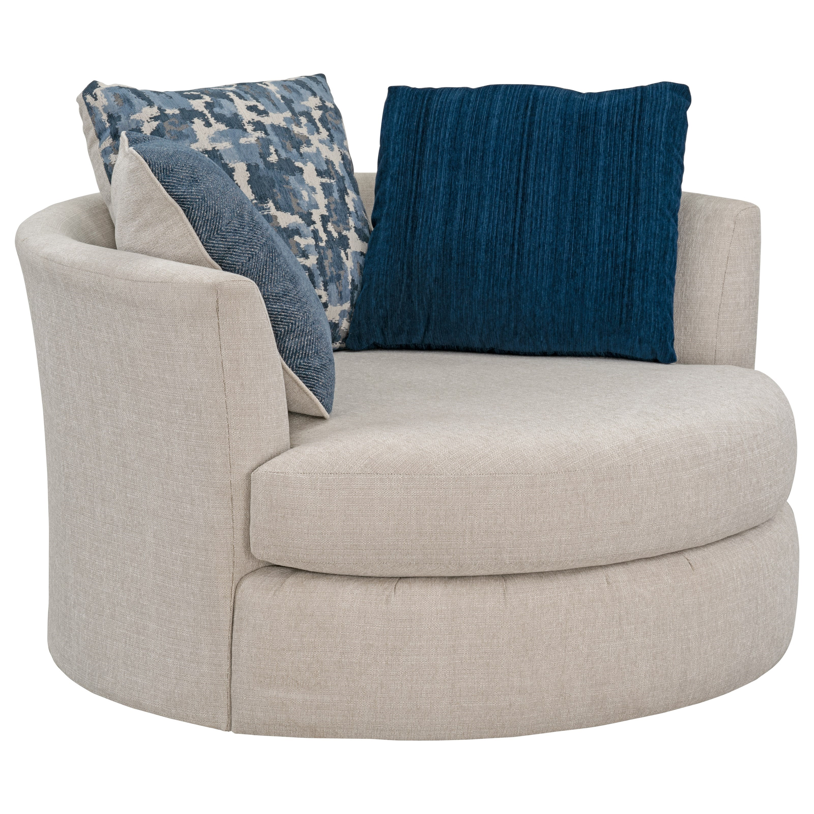 Contemporary Upholstered Swivel Chair with Reversible ...