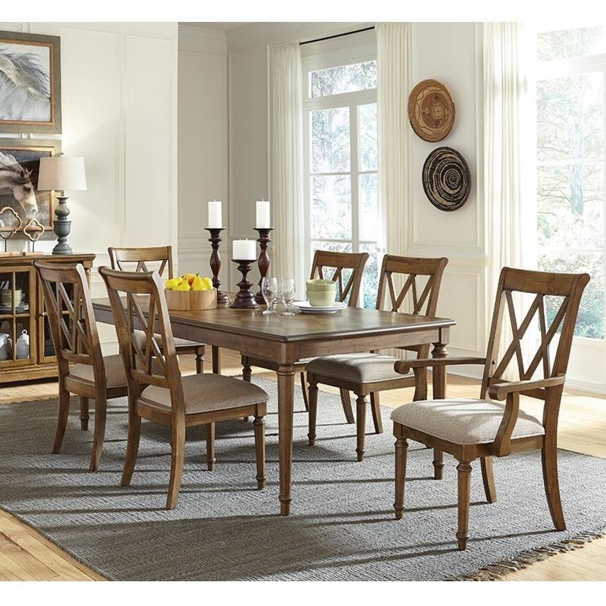 Standard Furniture Dining Room Sets: Standard Furniture Rossmore 7 Piece Rectangular Dining Set