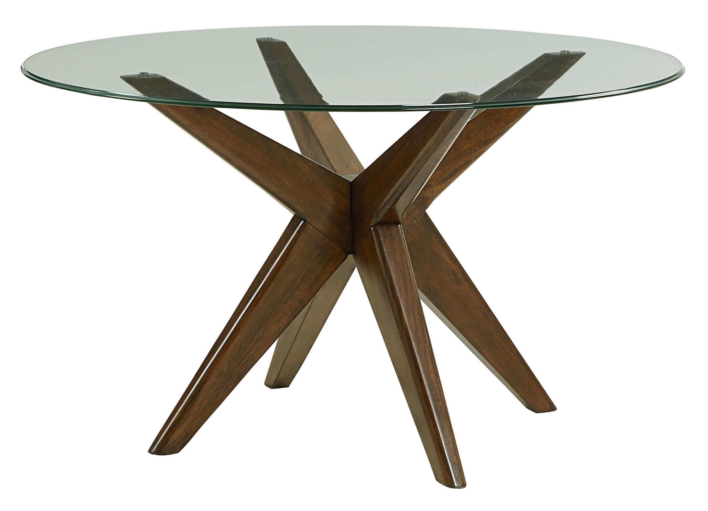"Standard Furniture Roxbury 48"" Round Glass Table - Item Number: 16026+10021048"