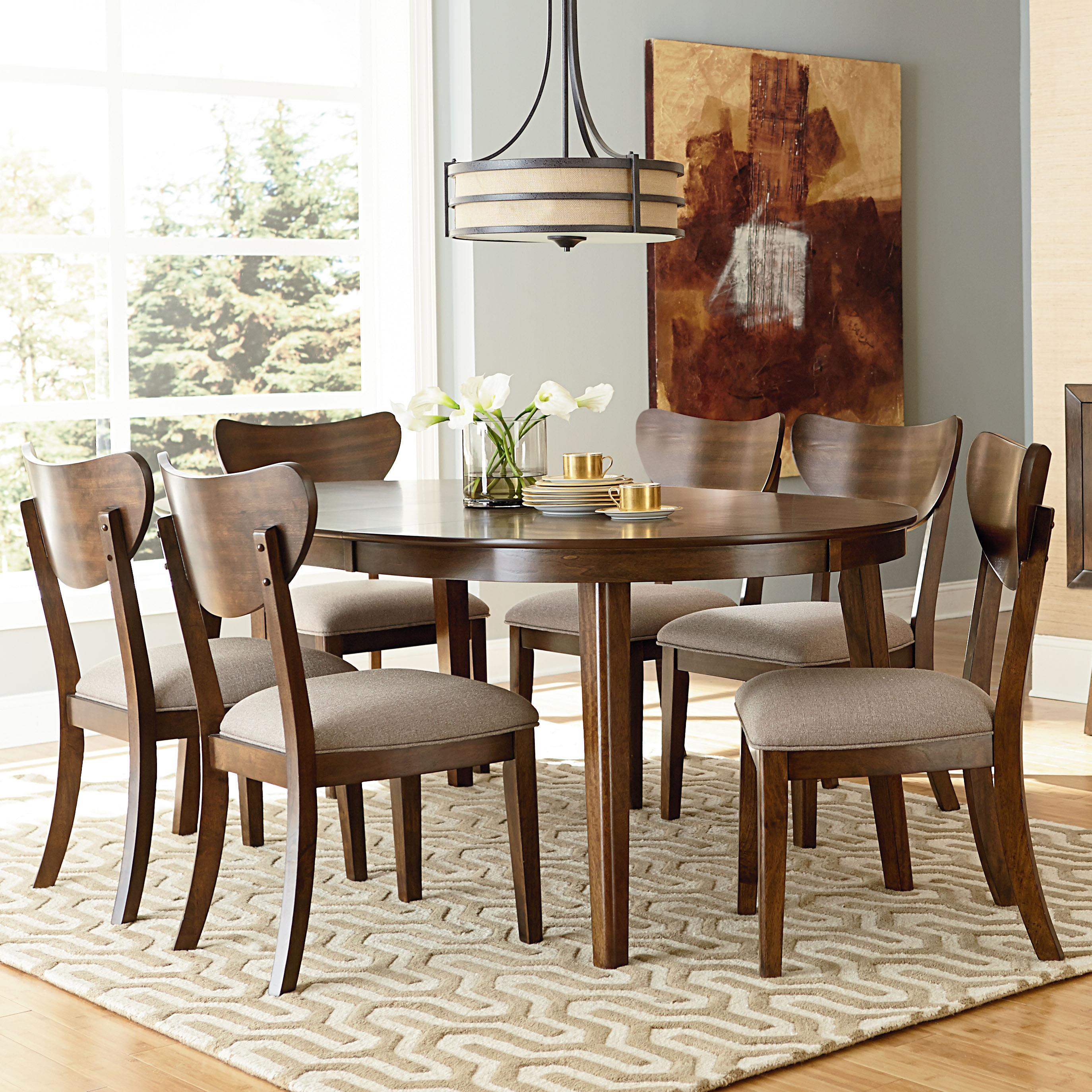 Standard Furniture Roxbury 7 Piece Oval Table & Chair Set - Item Number: 16201+6x204