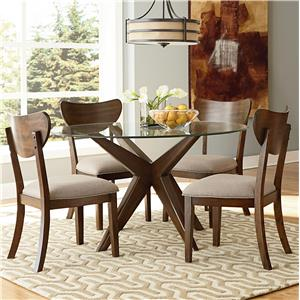 """Standard Furniture Roxbury 48"""" Round Glass Table & Chair Set with Spide"""