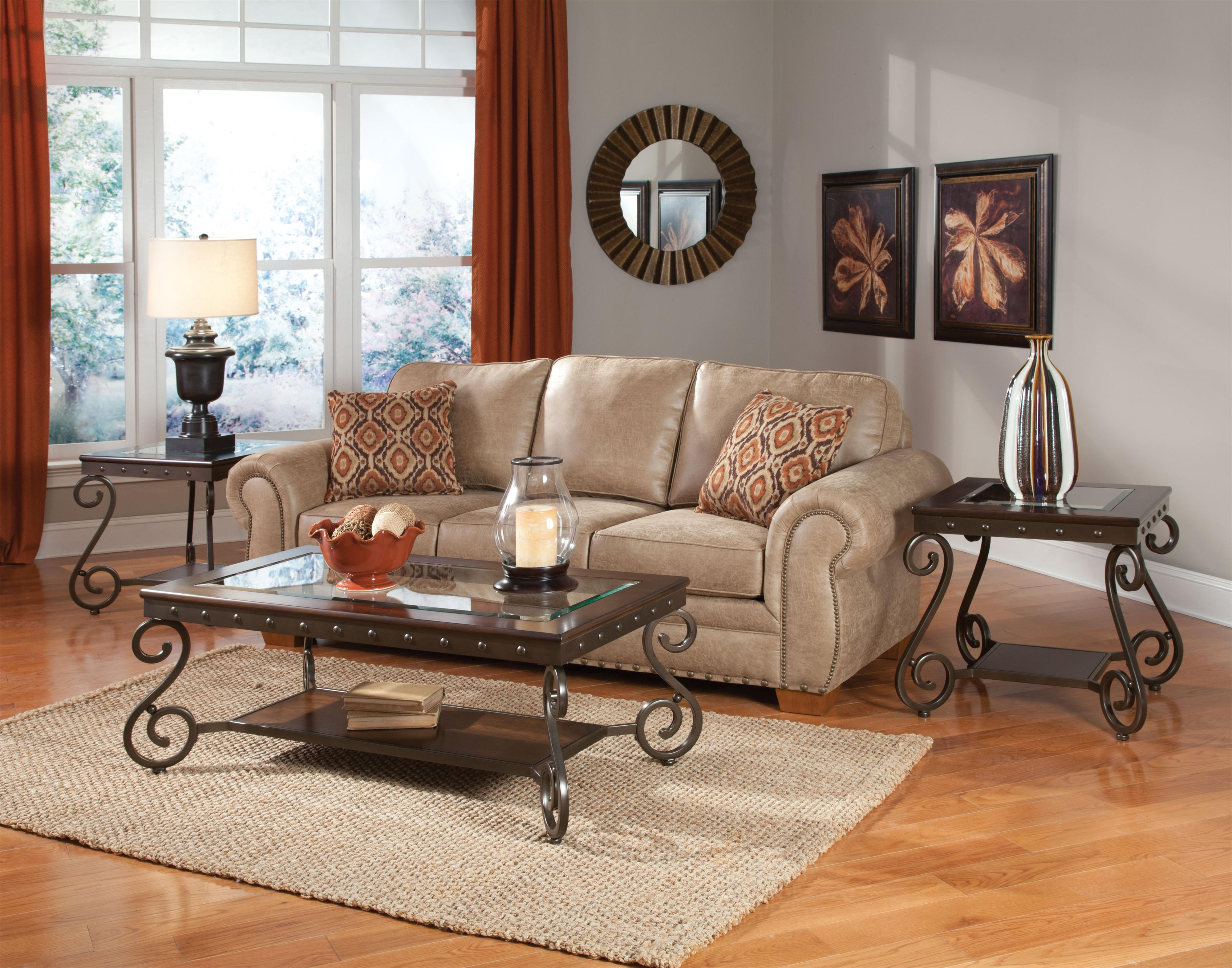 Standard Furniture Saratoga Cocktail Table and 2 End Tables Set with