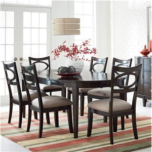 Standard Furniture Serenity 7 Piece Oval Table And Upholstered Chair Set