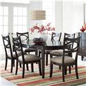 Standard Furniture Serenity 7-Piece Oval Table and Upholstered Chair Set - Item Number: 17141+6x17144