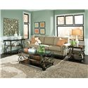 Standard Furniture Seville Glass Top Cocktail Table with Casters - Shown with End & Sofa Table