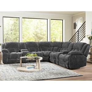 Superbe Standard Furniture Seymore 7 Pc Power Reclining Sectional