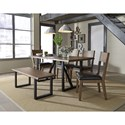 Standard Furniture Sierra Square Back Side Chair with Upholstered Seat