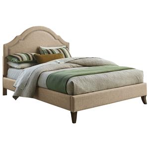Standard Furniture Simplicity Queen Upholstered Platform Bed