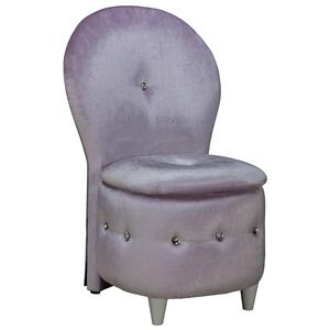 Standard Furniture Sit N Store Lavendar Velvet Storage Stool