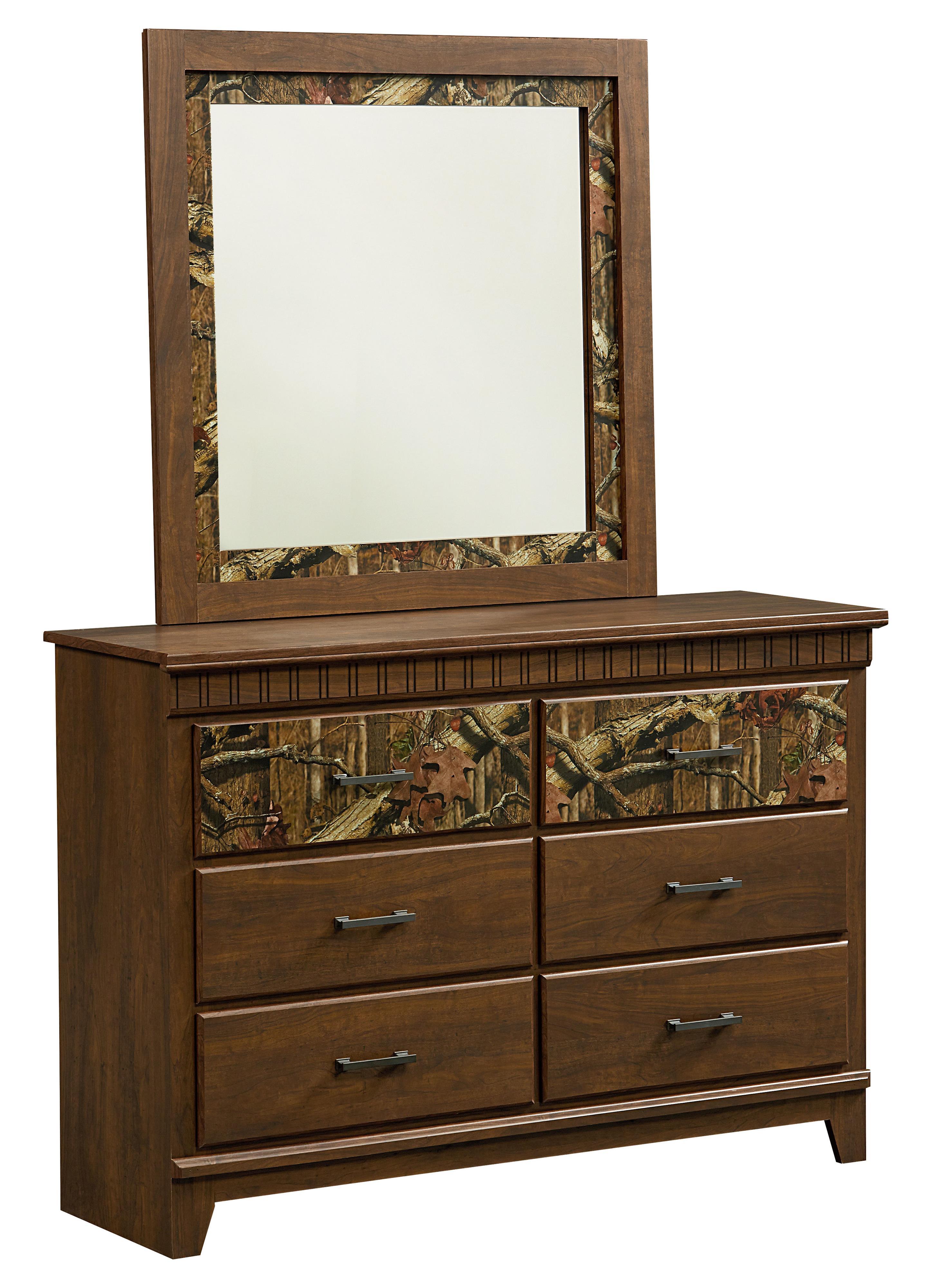 Standard Furniture Solitude Dresser and Mirror Set - Item Number: 52959+68