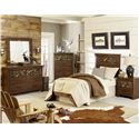 Standard Furniture Solitude Camouflage Paneled Dresser and Mirror Set