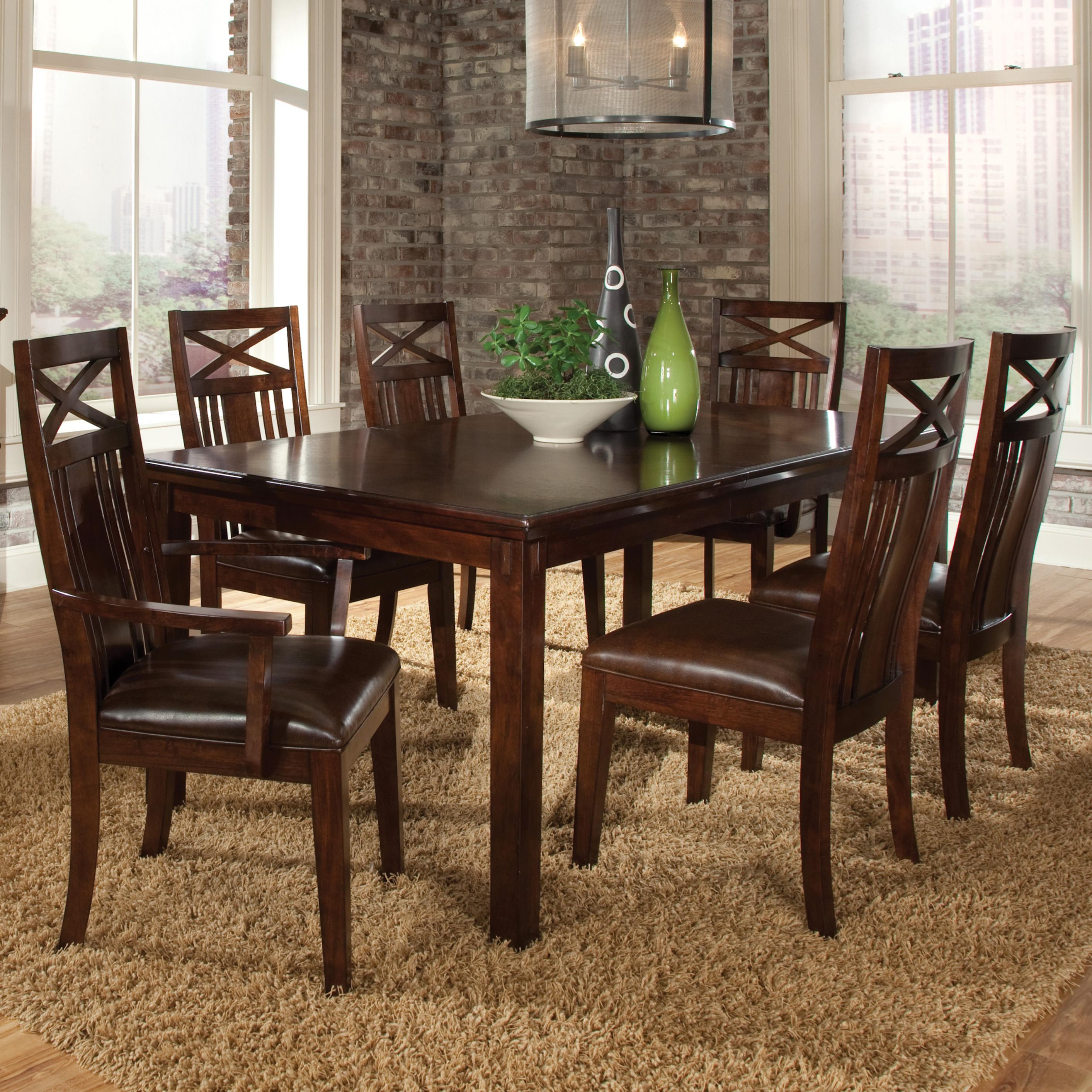Standard Furniture Sonoma 7 Piece Dining Table and Chairs Set - Item Number: 11901+4x11904+2x11905